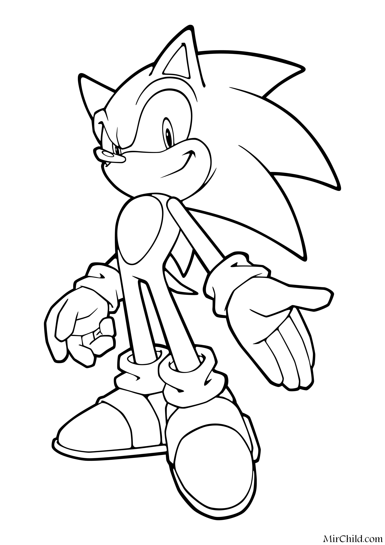 Раскраска - Sonic the Hedgehog - Благородный Соник | MirChild
