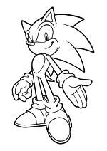 Раскраска - Sonic the Hedgehog - Благородный Соник