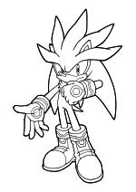 Раскраска - Sonic the Hedgehog - Ёж Сильвер способен левитировать