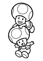 Раскраска - Супер Марио - Тоад на Тоаде