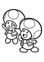 Раскраска - Супер Марио - Зовущие Тоады