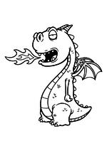Раскраска - Динозавры - Детёныш дракона