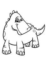 Раскраска - Динозавры - Весёлый динозавр