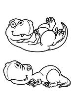 Раскраска - Динозавры - Динозаврики отдыхают