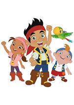 Раскраски - Мультфильм - Джейк и пираты Нетландии