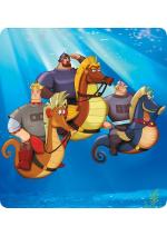 Раскраски - Мультфильм - Три богатыря и морской царь 2016