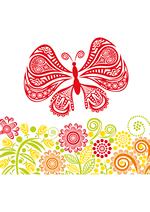 Раскраски - Узоры - Узорные бабочки (Patterned butterflies)