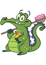 Раскраски - Видеоигра - Крокодильчик Свомпи (Where's My Water?)