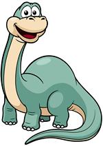 Раскраски - Рисованные динозавры и драконы