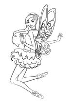 раскраска барби барби с крыльями бабочки Mirchild