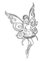 Раскраска - Барби - Барби - бабочка