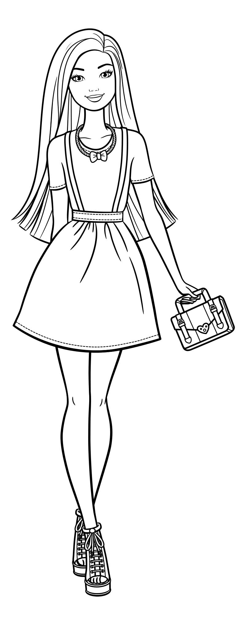Раскраска - Барби - Барби - элегантная модница | MirChild