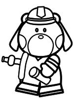 Раскраска - Хелло Китти - Пёс спасатель