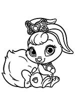 Раскраска - Королевские Питомцы - Зайчонок Ягодка - питомец Белоснежки