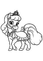 Раскраска - Королевские Питомцы - Пони Снежинка - питомец Золушки