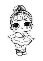 Раскраска - Куклы ЛОЛ - Королева Кристалл