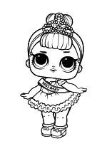 Раскраска - Куклы ЛОЛ - Мисс Беби