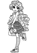 Раскраска Бриа с сумочкой