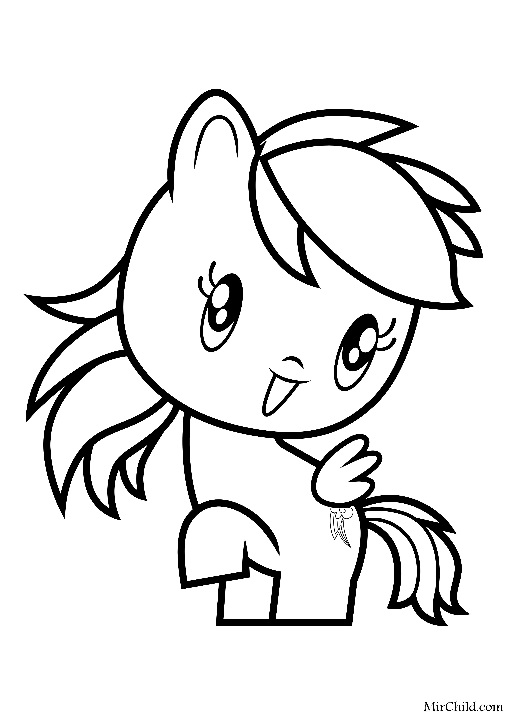 Раскраска - Мой маленький пони - Cutie Mark Crew - Милая ...
