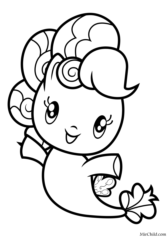 Раскраска - Мой маленький пони - Cutie Mark Crew - Морская ...