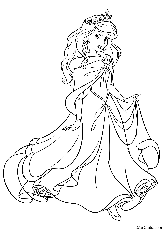 Принцессы с коронами раскраски 59