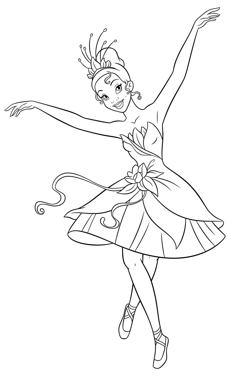 Балерины раскраска распечатать