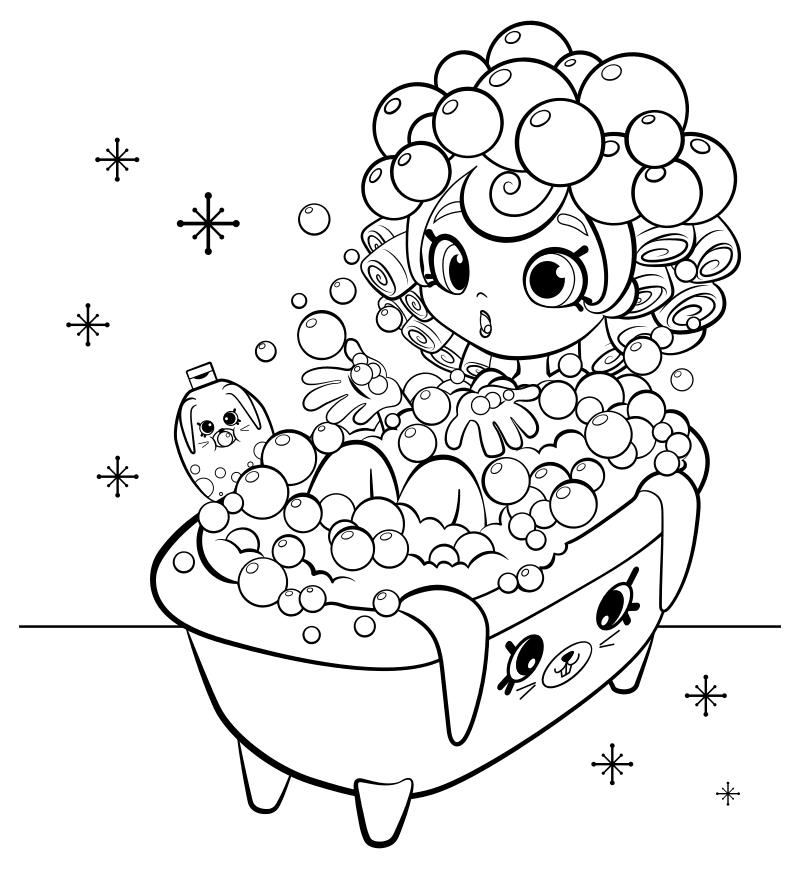 Раскраска - Шопкинс - Шоппис Баблейша и Кролики для ванной ...