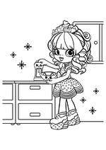 Раскраска - Шопкинс - Шоппис Рейнбоу Кейт и Котята для кухни
