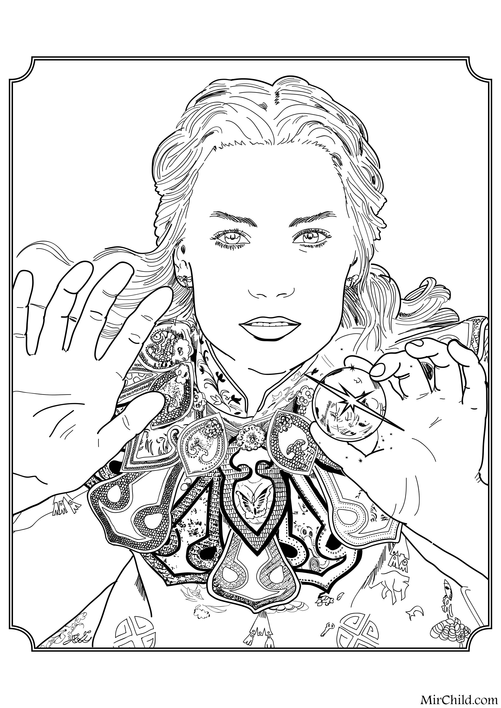 Раскраска - Алиса в Зазеркалье - Алиса Кингсли