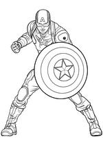 Раскраска - Мстители: Эра Альтрона - Стив Роджерс / Капитан Америка