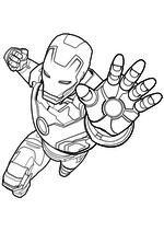 Раскраска - Мстители: Эра Альтрона - Тони Старк / Железный человек