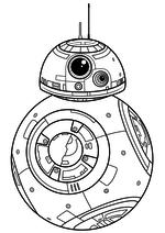 Раскраска - Звёздные войны: Пробуждение силы - Астродроид BB-8