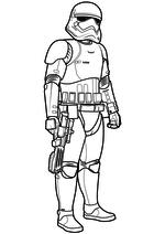 Раскраска - Звёздные войны: Пробуждение силы - Штурмовик