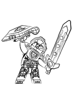 Раскраска - LEGO Нексо Найтс - Клэй