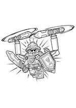 Раскраска - LEGO Нексо Найтс - LEGO Nexo Knights Абсолютная сила Клэя