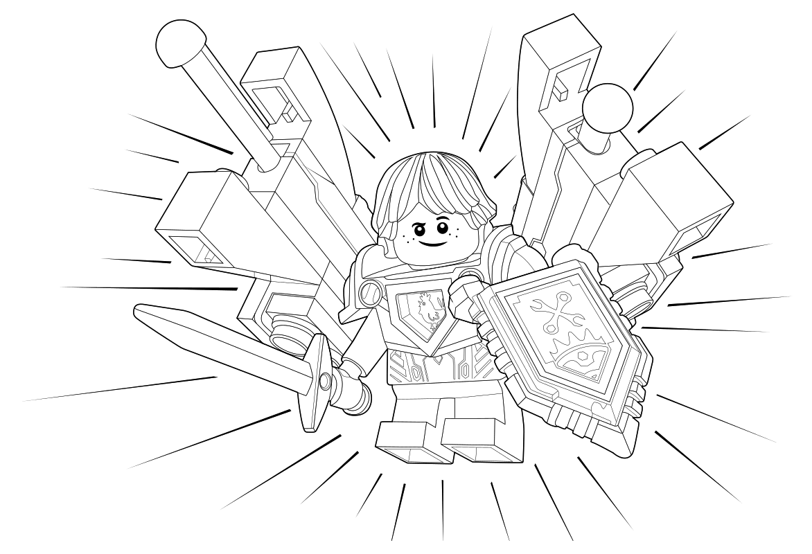 Рисунки карандашом лего нексо найтс