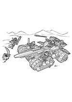 Раскраска - LEGO Нексо Найтс - LEGO Nexo Knights Устрашающий разрушитель Клэя