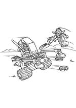 Раскраска - LEGO Нексо Найтс - LEGO Nexo Knights Королевский боевой бластер