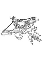 Раскраска - LEGO Нексо Найтс - LEGO Nexo Knights Аэроохотник Аарона