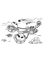 Раскраска - LEGO Нексо Найтс - LEGO Nexo Knights Безумная колесница Укротителя