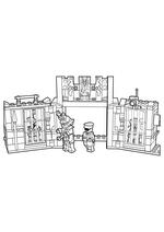 Раскраска - LEGO Ниндзяго. Мастера Кружитцу - Побег из тюрьмы Криптариум