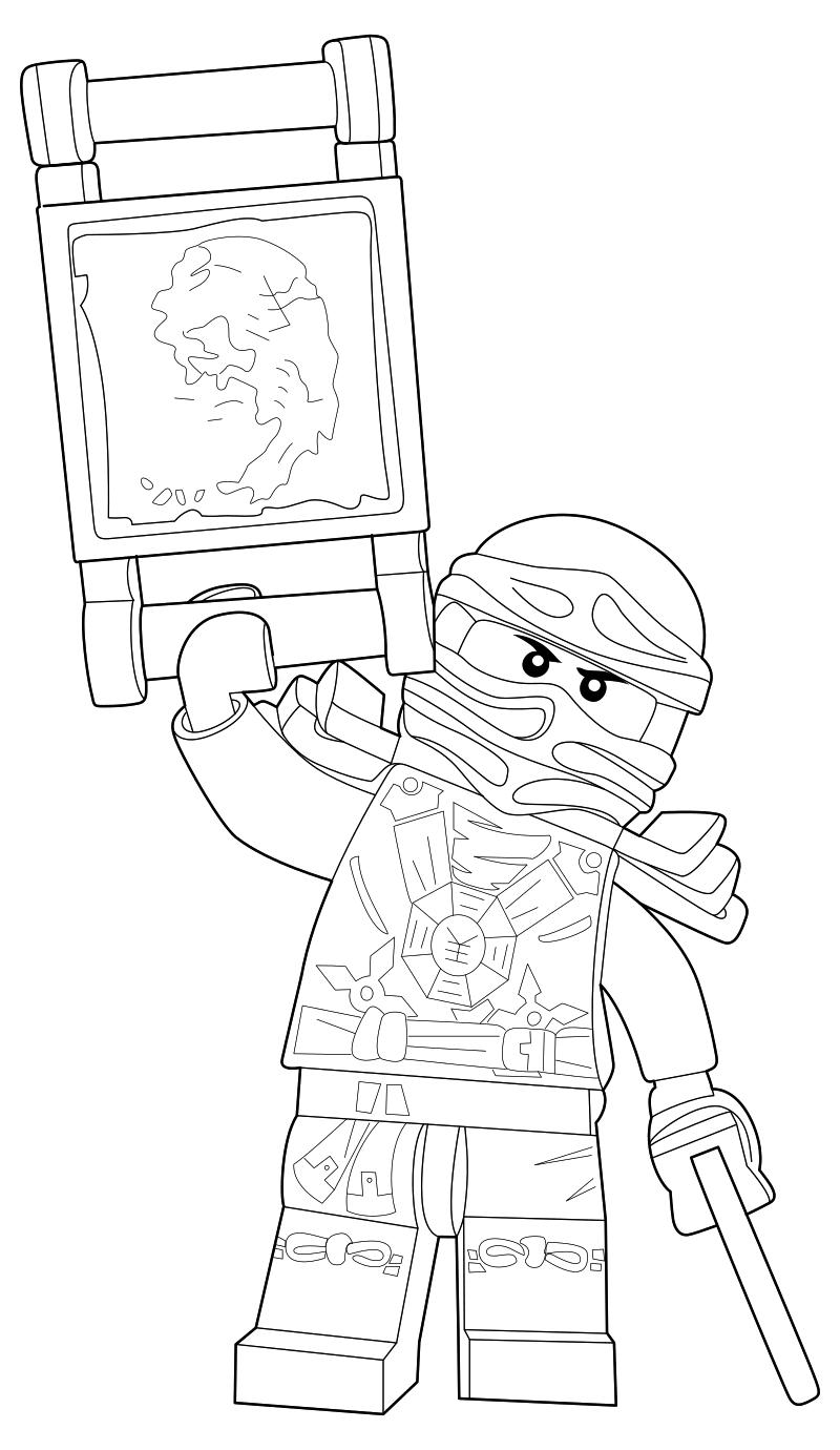 Раскраска - LEGO Ниндзяго. Мастера Кружитцу - Джей | MirChild