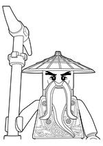 раскраски ниндзяго мастера кружитцу