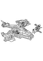 Раскраска - LEGO Ниндзяго. Мастера Кружитцу - Вертолётная атака Анакондрай