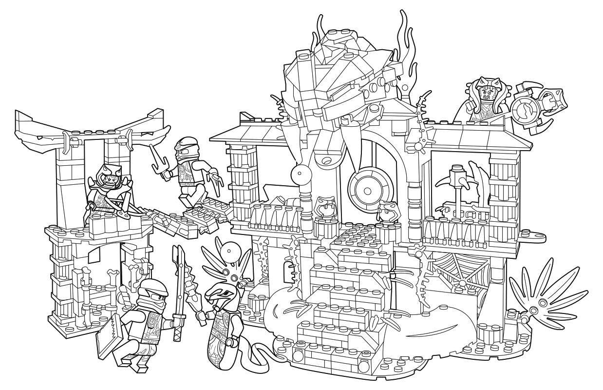 Раскраска - LEGO Ниндзяго. Мастера Кружитцу - Храм клана ...