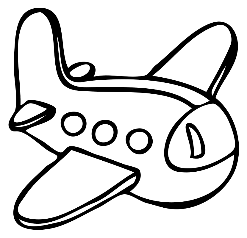раскраска малышам самолёт Mirchild
