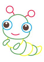 Раскраска - Малышам - Гусеница