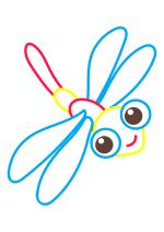 Раскраска - Малышам - Стрекоза