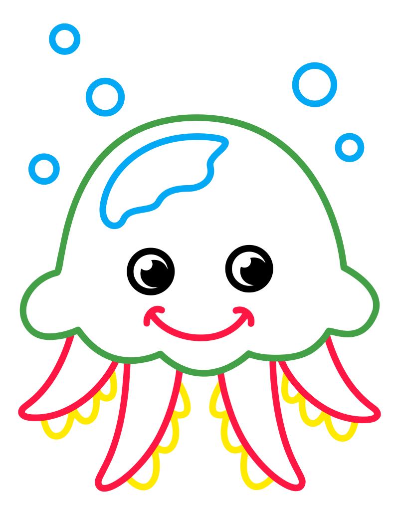 Раскраска - Малышам - Медуза | MirChild