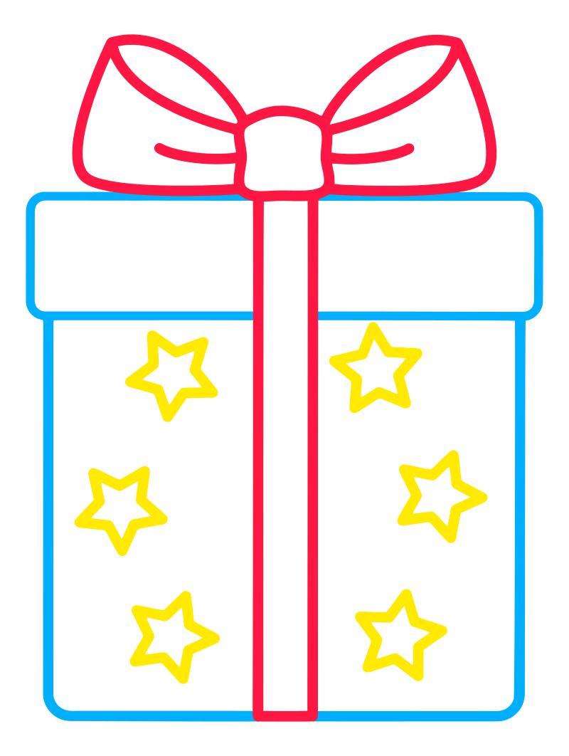 Раскраска - Малышам - Подарок | MirChild